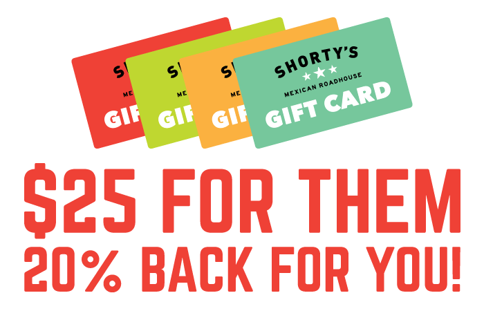 20% Back on Gift Cards